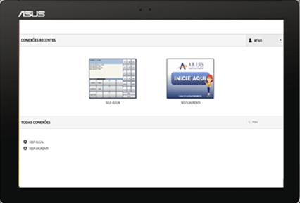 Exemplo de tela do Arius Loja Selfcheckout - tela de supervisor